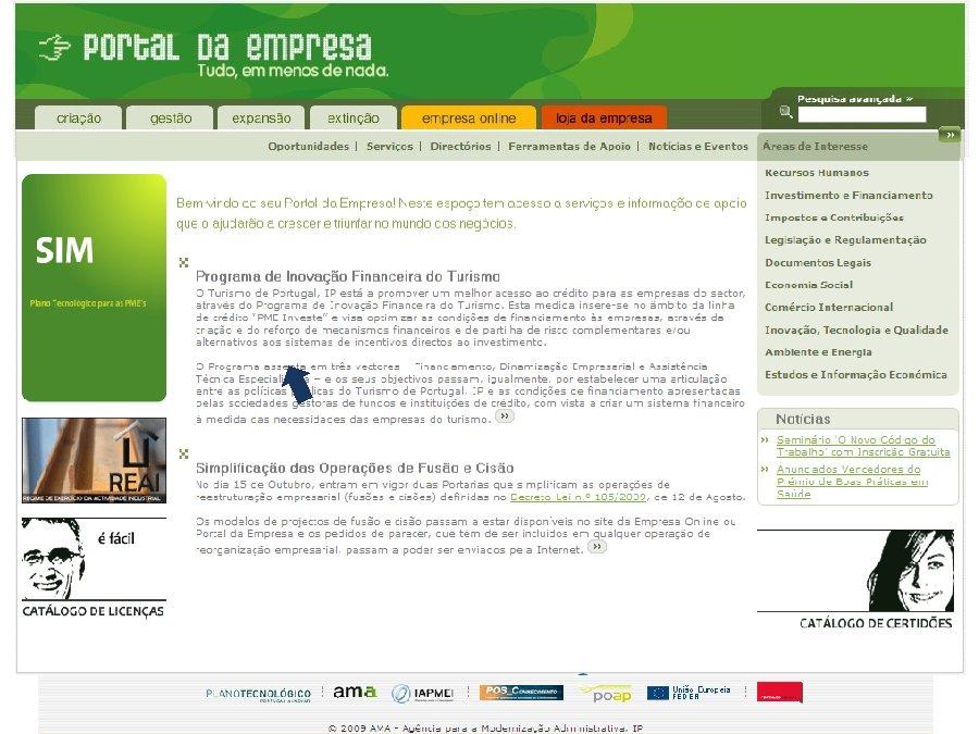 O desenvolvemento do portelo único en Portugal